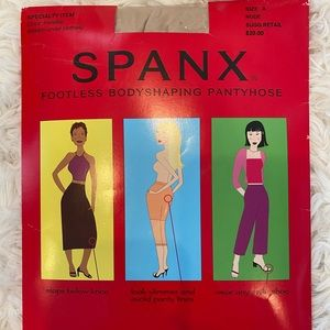 NWT SPANX footless body-shaping tights nude Small